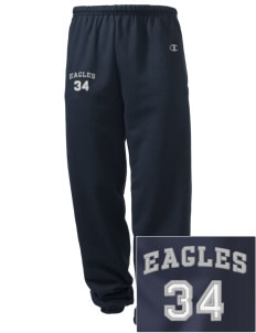 Hillside High School Eagles Embroidered Champion Men's Sweatpants