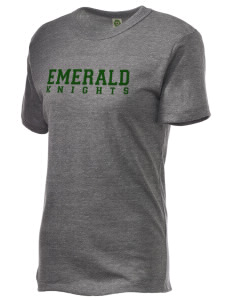 Emerald Middle School Knights Embroidered Alternative Unisex Eco Heather T-Shirt