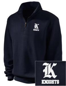 Emerald Middle School Knights Embroidered Men's 1/4-Zip Sweatshirt