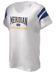 Meridian Elementary School Mountain Lions Holloway Women's Shout Bi-Color T-Shirt