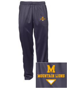 Meridian Elementary School Mountain Lions Embroidered Men's Tricot Track Pants