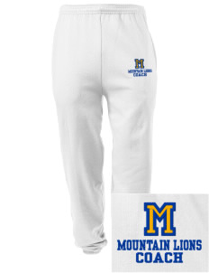 Meridian Elementary School Mountain Lions Embroidered Men's Sweatpants with Pockets