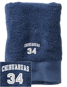 Pacific View Elementary School Chihuahuas Embroidered Zero Twist Resort Towel