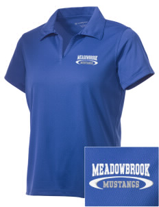 Meadowbrook Middle School Mustangs Embroidered Women's Double Mesh Polo