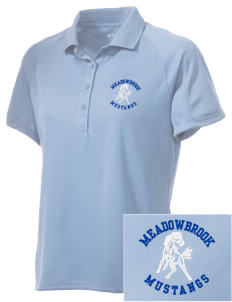 Meadowbrook Middle School Mustangs Embroidered Women's Polytech Mesh Insert Polo