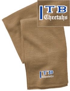 Tierra Bonita Elementary School Cheetahs  Embroidered Knitted Scarf