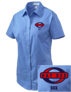 Bay Sox Sox Embroidered Women's Easy Care Short Sleeve Shirt