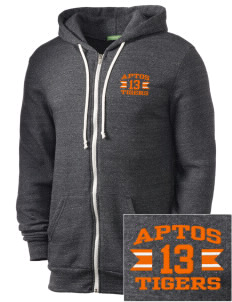 Aptos Middle School Tigers Embroidered Alternative Men's Rocky Zip Hooded Sweatshirt