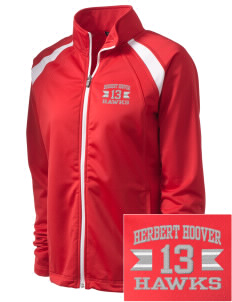 Herbert Hoover Middle School Hawks Embroidered Women's Tricot Track Jacket
