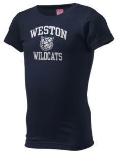 Weston Elementary School Wildcats  Girl's Fine Jersey Longer Length T-Shirt