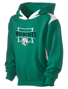 Weston Elementary School Wildcats Kid's Pullover Hooded Sweatshirt with Contrast Color