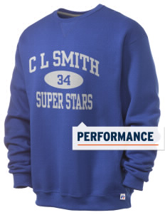 C L Smith Elementary School Super Stars  Russell Men's Dri-Power Crewneck Sweatshirt