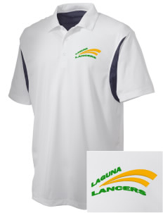 Laguna Middle School Lancers Embroidered Men's Back Blocked Micro Pique Polo