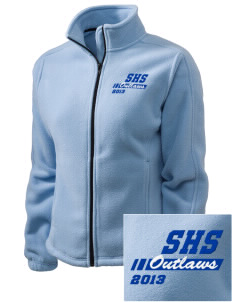 Shandon Senior High School Outlaws Embroidered Women's Fleece Full-Zip Jacket