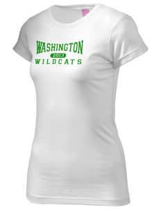Washington Elementary School Wildcats  Juniors' Fine Jersey Longer Length T-Shirt