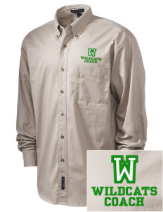 Washington Elementary School Wildcats Embroidered Tall Men's Twill Shirt