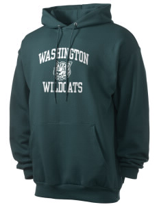 Washington Elementary School Wildcats Men's 7.8 oz Lightweight Hooded Sweatshirt