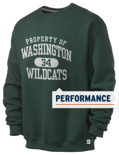 Washington Elementary School Wildcats  Russell Men's Dri-Power Crewneck Sweatshirt
