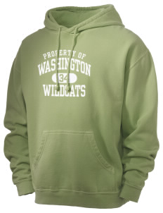 Washington Elementary School Wildcats Men's 80/20 Pigment Dyed Hooded Sweatshirt