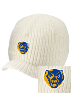 Brittan Acres Elementary School Bears Embroidered Knit Beanie with Visor