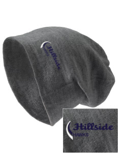 Hillside Elementary School Hawks Embroidered Slouch Beanie