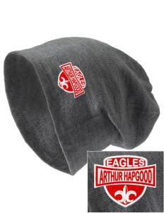 Arthur Hapgood Elementary School Eagles Embroidered Slouch Beanie