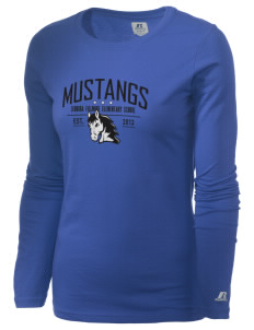 Leonora Fillmore Elementary School Mustangs  Russell Women's Long Sleeve Campus T-Shirt