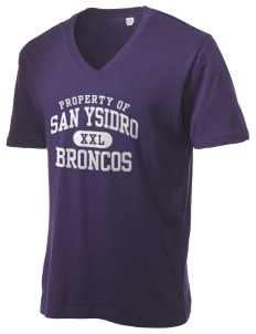 San Ysidro Elementary School Broncos Alternative Men's 3.7 oz Basic V-Neck T-Shirt