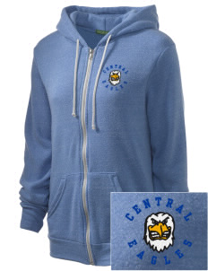 Central Continuation High School Eagles Embroidered Alternative Unisex The Rocky Eco-Fleece Hooded Sweatshirt