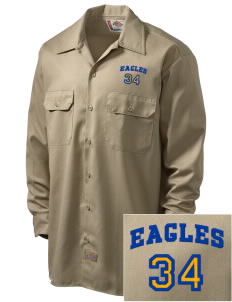 Central Continuation High School Eagles Embroidered Dickies Men's Long-Sleeve Workshirt