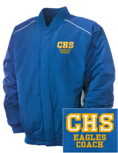 Central Continuation High School Eagles Embroidered Russell Men's Baseball Jacket