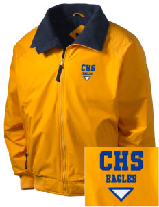 Central Continuation High School Eagles Embroidered Men's Fleece-Lined Jacket