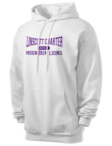 Linscott Charter School Mountain Lions Men's 7.8 oz Lightweight Hooded Sweatshirt