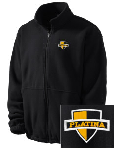 Platina Elementary School Tigers Embroidered Men's Fleece Jacket