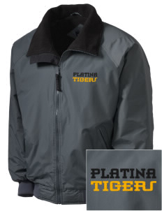 Platina Elementary School Tigers Embroidered Men's Fleece-Lined Jacket