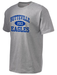 Butteville Union Elementary School Eagles Hanes Men's 6 oz Tagless T-shirt