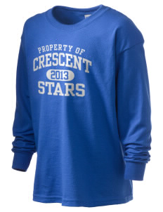 Crescent Elementary School Stars Kid's 6.1 oz Long Sleeve Ultra Cotton T-Shirt