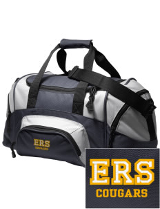 E Ruth Sheldon Elementary School Cougars Embroidered Small Colorblock Duffel