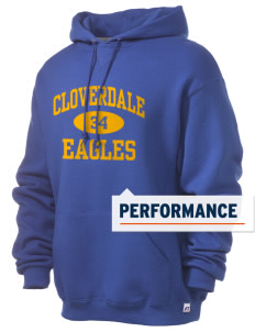 Cloverdale High School Eagles Russell Men's Dri-Power Hooded Sweatshirt