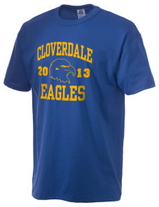 Cloverdale High School Eagles  Russell Men's NuBlend T-Shirt