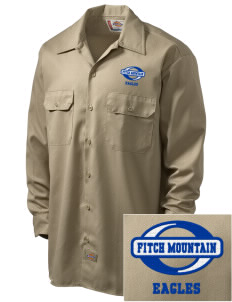 Fitch Mountain Primary School Eagles Embroidered Dickies Men's Long-Sleeve Workshirt