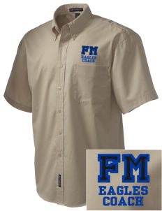 Fitch Mountain Primary School Eagles Embroidered Men's Easy Care Shirt