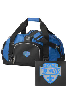 Ridgway School Bluejays  Embroidered OGIO Big Dome Duffel Bag