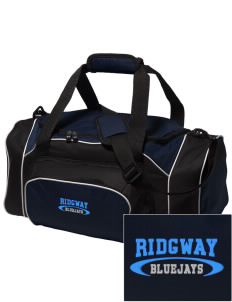 Ridgway School Bluejays Embroidered Holloway Duffel Bag