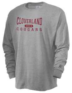Cloverland Elementary School Cougars  Russell Men's Long Sleeve T-Shirt
