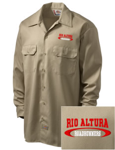 Rio Altura Primary School Roadrunners Embroidered Dickies Men's Long-Sleeve Workshirt