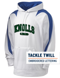 Knolls Elementary School Knolls Knights Holloway Men's Sports Fleece Hooded Sweatshirt with Tackle Twill