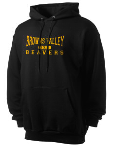 Browns Valley Elementary School Beavers Men's 7.8 oz Lightweight Hooded Sweatshirt