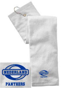 Nederland Elementary School Panthers Embroidered Hand Towel with Grommet