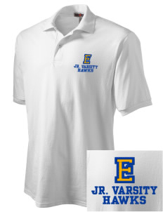 Explorer Elementary School Hawks Embroidered Men's Jersey Polo